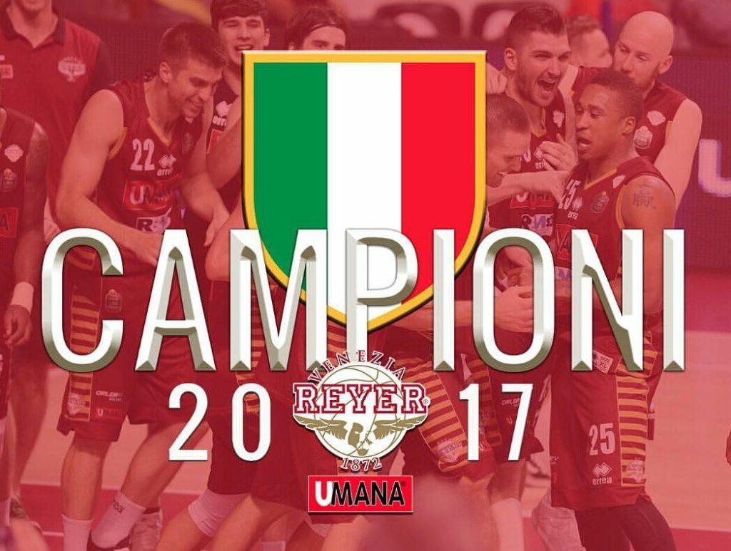 Reyer nella storia: è campione d'Italia!
